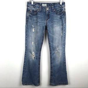 Aeropostale 3/4 Hailey Skinny Flare Jeans Short